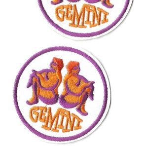 GEMINI STAR SIGN CONSTELLATION PATCH 2-PACK BADGES
